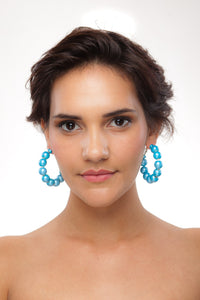 Metallic Hoop Earrings - Sasha L JEWELS LLC