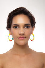 Load image into Gallery viewer, SLJ Cape Verde Cape Verdean Earring Hoops Jewelry Celebrate Caribbean Culture Festival Heritage Pride Collection Carnival Accessories African Fashion