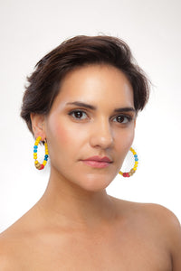 SLJ Cape Verde Cape Verdean Earring Hoops Jewelry Celebrate Caribbean Culture Festival Heritage Pride Collection Carnival Accessories African Fashion