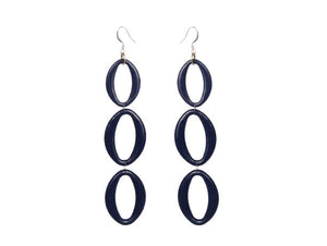 Indigo Earrings - Triple - Sasha L JEWELS LLC
