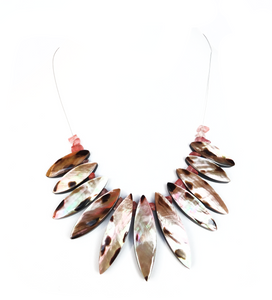 Iridescent Collage Fan Choker - Sasha L JEWELS LLC