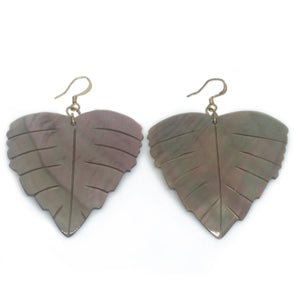 Iridescent Leaf Earrings - Sasha L JEWELS LLC