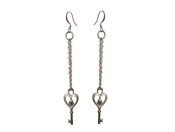 Key to My Heart Signature Earrings - Sasha L JEWELS LLC