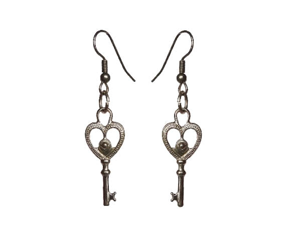 Key to My Heart Earrings - Sasha L JEWELS LLC