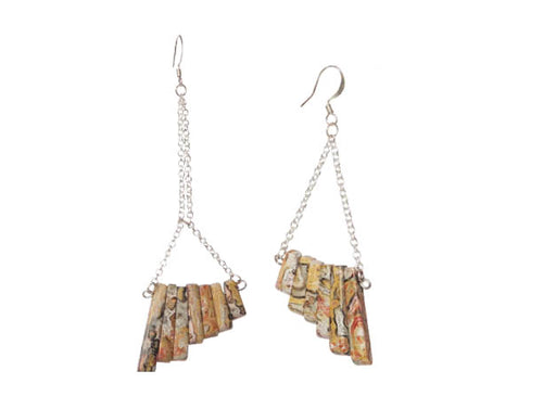 Leopard Jasper Mismatch Earrings