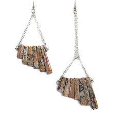 Load image into Gallery viewer, Leopard Jasper Mismatch Earrings