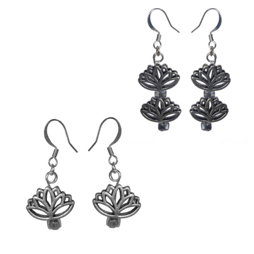 Lotus Earrings - Sasha L JEWELS LLC