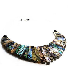 Load image into Gallery viewer, SLJ Mosaic Shell Crescent Fan Choker Necklace Gemstone Handmade Urban Street Evening Unique Fashion Pop Jewelry Travel Jewelry Urban Chic Retro Collection