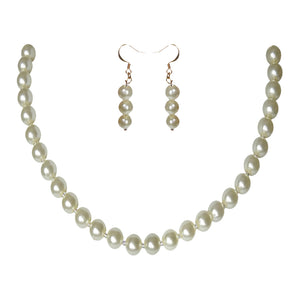 Fashion Crystal Pearl Choker Set - Sasha L JEWELS LLC