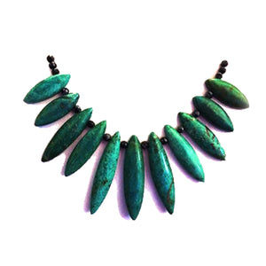 Turquoise Fan Choker - Sasha L JEWELS LLC