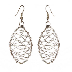 Oval Wire Earrings - Single - Sasha L JEWELS LLC