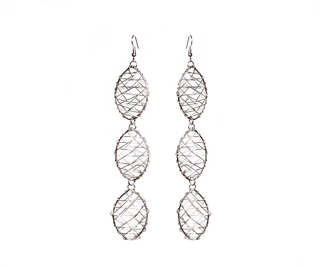 Oval Wire Earrings - Triple - Sasha L JEWELS LLC