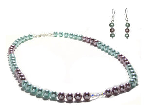 Pastel Lavender Blue Pearl Set - Sasha L JEWELS LLC