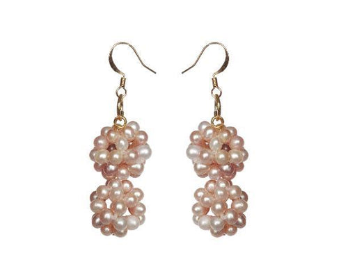 Pearl Fleur Earrings - Sasha L JEWELS LLC