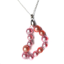 Load image into Gallery viewer, Pink Pearl Heart Necklace - Sasha L JEWELS LLC