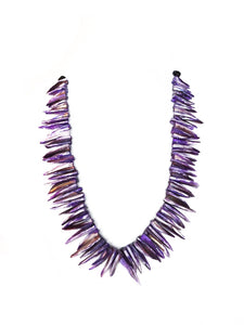 SLJ Purple Shell Dynasty Necklace Island Urban Fashion Handmade Natural Spiritual Travel Resort Boho Chic Collection