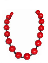 Load image into Gallery viewer, Red Onyx Pop Necklace - Sasha L JEWELS LLC