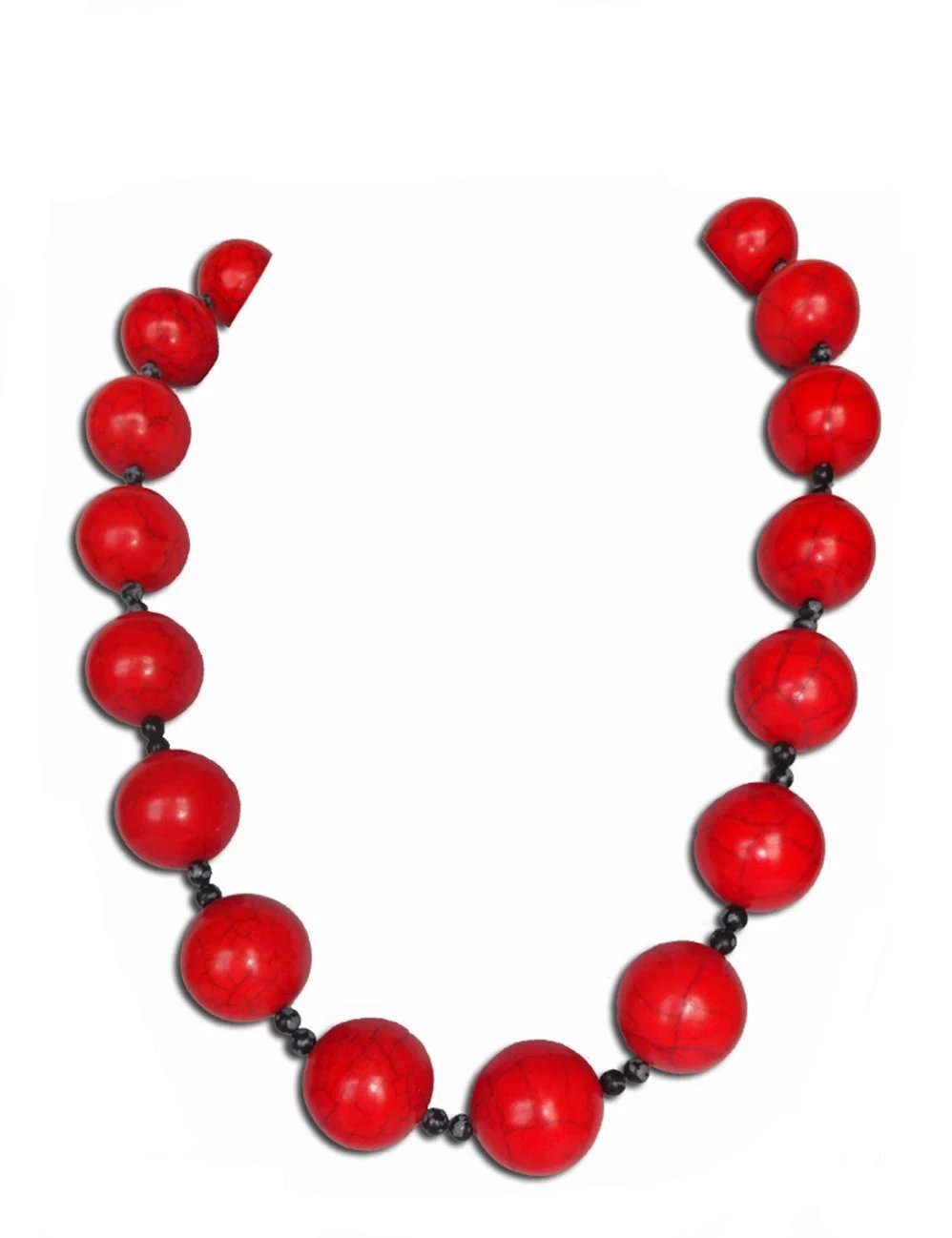 Red Onyx Pop Necklace - Sasha L JEWELS LLC