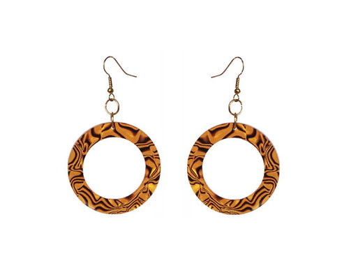 SLJ Exotic Safari Shell Earrings Island Classic Handmade Natural Spiritual Travel Resort Boho Chic Collection Animal Print Accessories