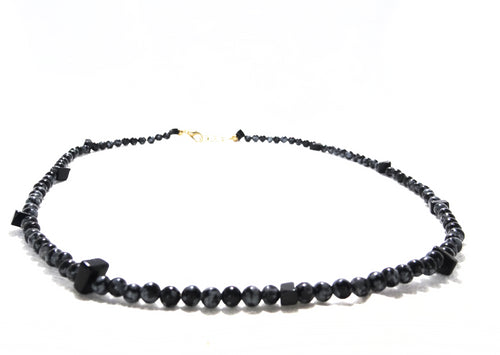 Snowflake Obsidian Necklace - Sasha L JEWELS LLC