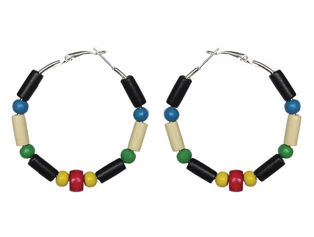 St. Kitts and Nevis Earring Hoops - Sasha L JEWELS LLC