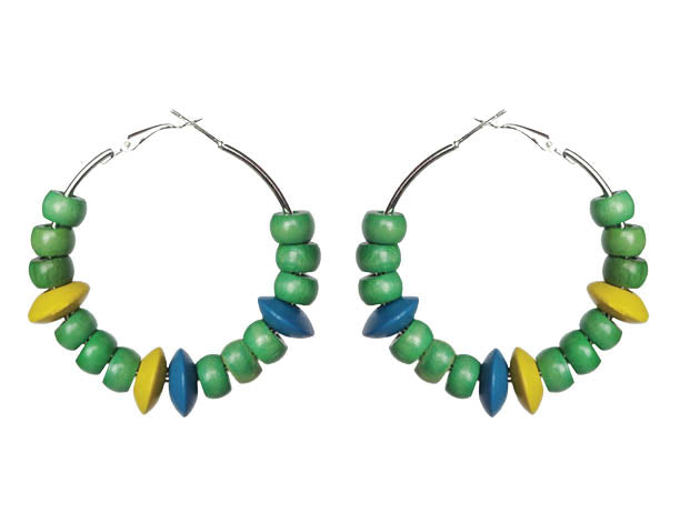 SLJ St. Vincent and the Grenadines Earring Hoops Jewelry Celebrate Caribbean Fashion Culture Festival Heritage Pride Collection Carnival Accessories West Indies Fashion