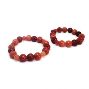 SLJ Tangerine Pop Bangle Bracelets Shades of Orange  Island Classic Handmade Natural Spiritual Travel Resort Boho Chic Collection Glass Beads