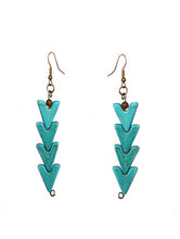 Load image into Gallery viewer, Turquoise Warrior Earrings - Signature - Sasha L JEWELS LLC