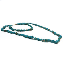 Load image into Gallery viewer, SLJ Turquoise Chip Necklace Stone Beaded Handmade Natural Spiritual Travel Resort Boho Chic Collection
