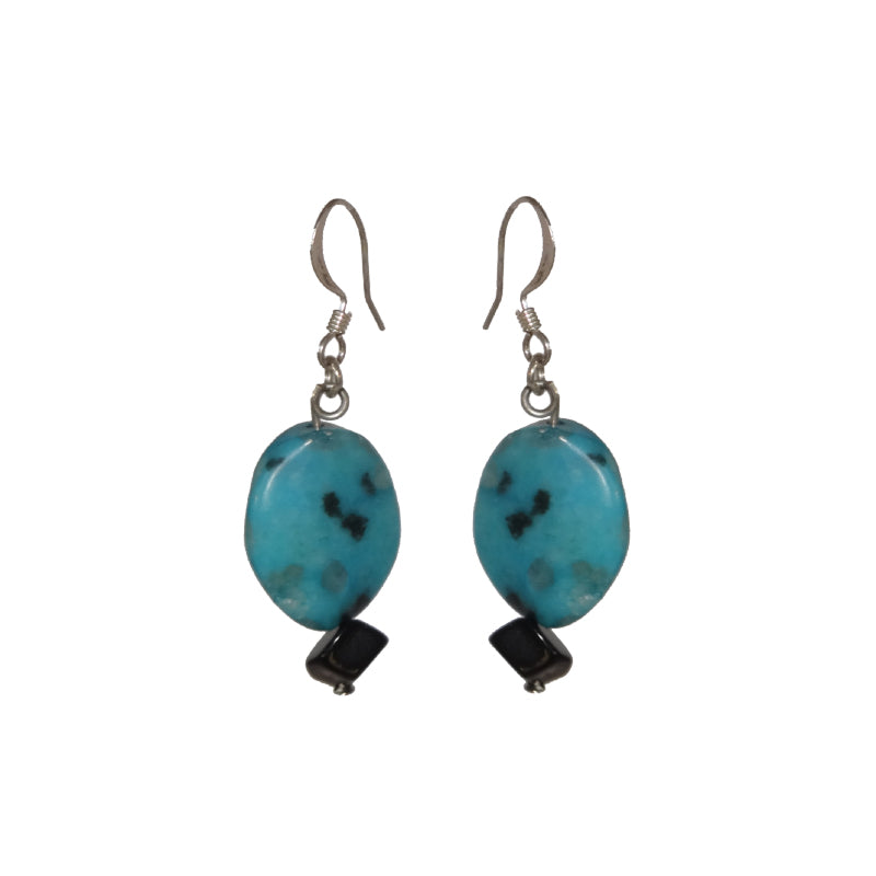 Turquoise Stone Earrings - Sasha L JEWELS LLC