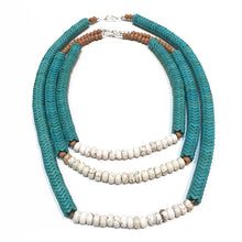 Load image into Gallery viewer, SLJ Turquoise Temptress Necklaces Stone Beaded Handmade Natural Spiritual Travel Resort Boho Chic Collection Choose Length Stack Jewelry for Bold Fashion