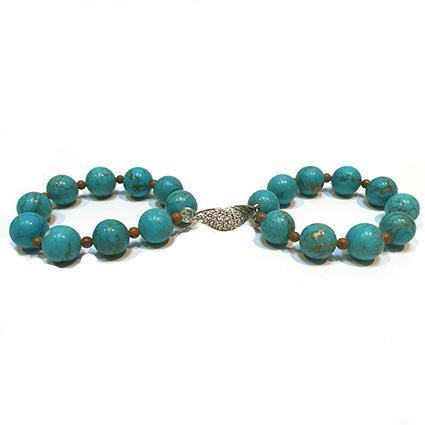 Turquoise Double Leaf Bangles - Sasha L JEWELS LLC