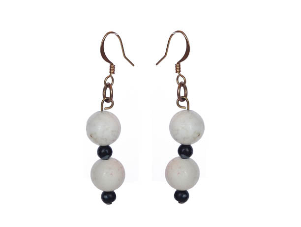 White Obsidian Earrings - Sasha L JEWELS LLC
