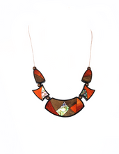 Load image into Gallery viewer, Multi-wood Crescent Necklace - Sasha L JEWELS LLC