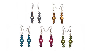 Metallic Statement Earrings - Sasha L JEWELS LLC