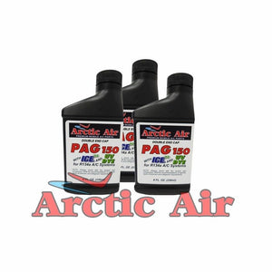 Arctic Air PAG 150 with ICE and UV Dye (3 Pack of 8oz Bottles)