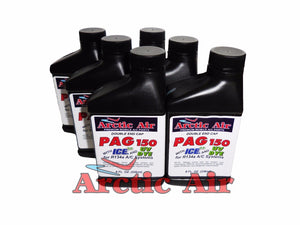 Arctic Air PAG 150 with ICE and UV Dye (6 Pack of 8oz Bottles)