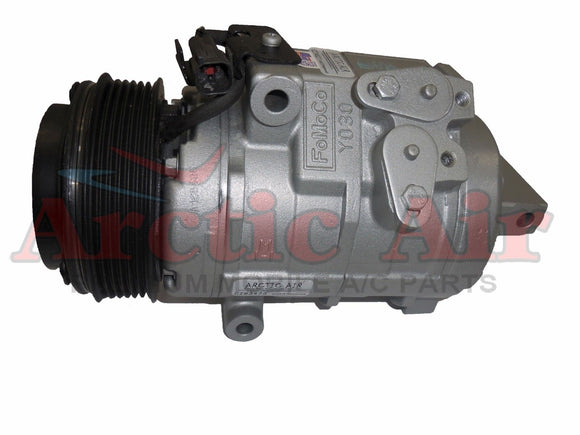 157314 AC compressor for 2007-2014 Ford Edge and 2007-2015 Lincoln MKX (front view)