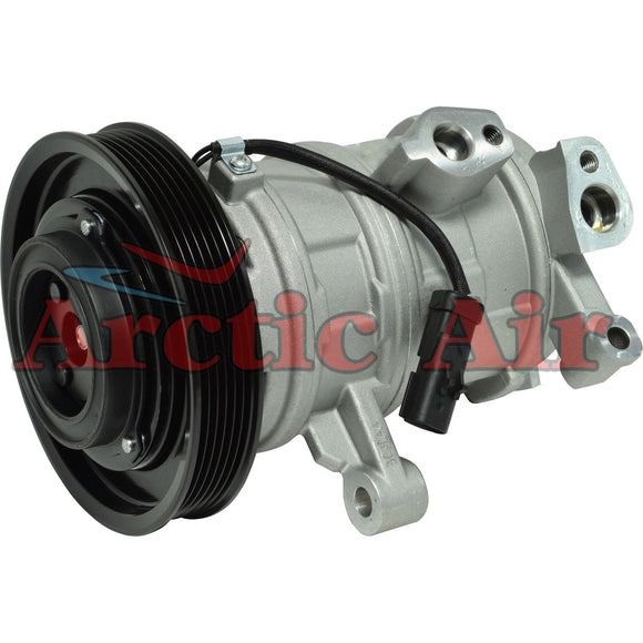 157319 AC compressor for 2008-2013 Dodge Dakota/Ram 1500 and Jeep Commander (front view)