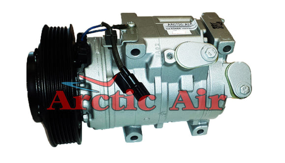 157334 AC compressor for 2007-2015 Acura MDX/ZDX and Honda Odyssey/Pilot/Ridgeline (front view)