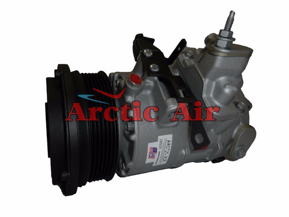 157349 AC compressor with clutch for 2004-2006 Lexus LS430 (front view)