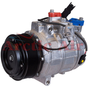 157382 AC Compressor for 2007-2015 BMW 1 Series M, 135i/135is, 335 Series, X1, and Z4 models (front view)