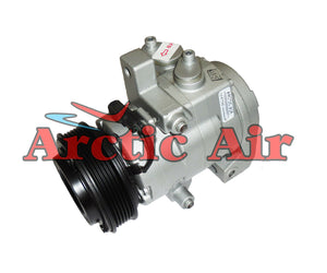 167660 AC compressor for 2011-2014 Ford F-150 and 2011-2013 Lobo (front view)