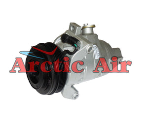 167662 AC compressor for 2011-2016 Ford F-150 and Transit models (front view)
