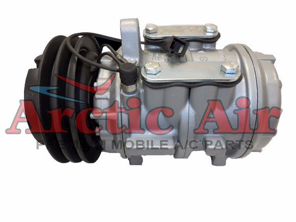 57105 AC compressor for 1981-1983 Chrysler New Yorker, Dodge 600, and Plymouth Reliant (front view)