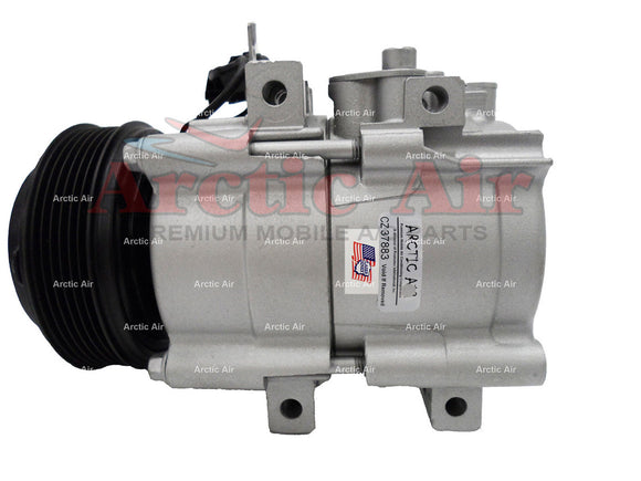 57119 AC Compressor for 2002-2004 Kia Sedona (front view)