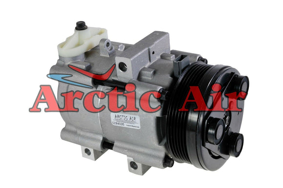 57129 AC Compressor for 1993-2006 Ford Mustang, Lincoln Town Car, and Mercury Grand Marquis (front view)
