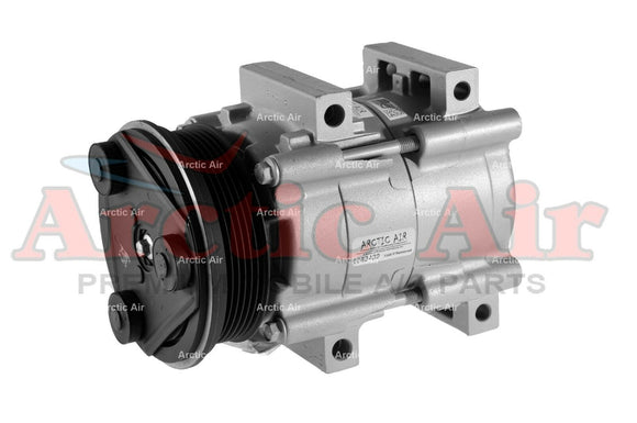 57130 AC Compressor for 1992-2002 Ford Escort and Mercury Tracer (front view)