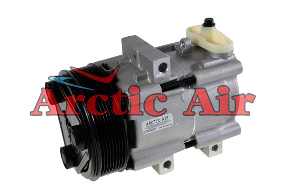 57152 AC Compressor for 1997-2007 Ford Excursion, F- Series, and Super Duty (front view)