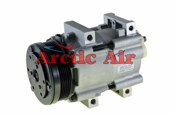 57157 AC Compressor for 1999-2007 Ford Freestar/Windstar and Mercury Monterey (front view)